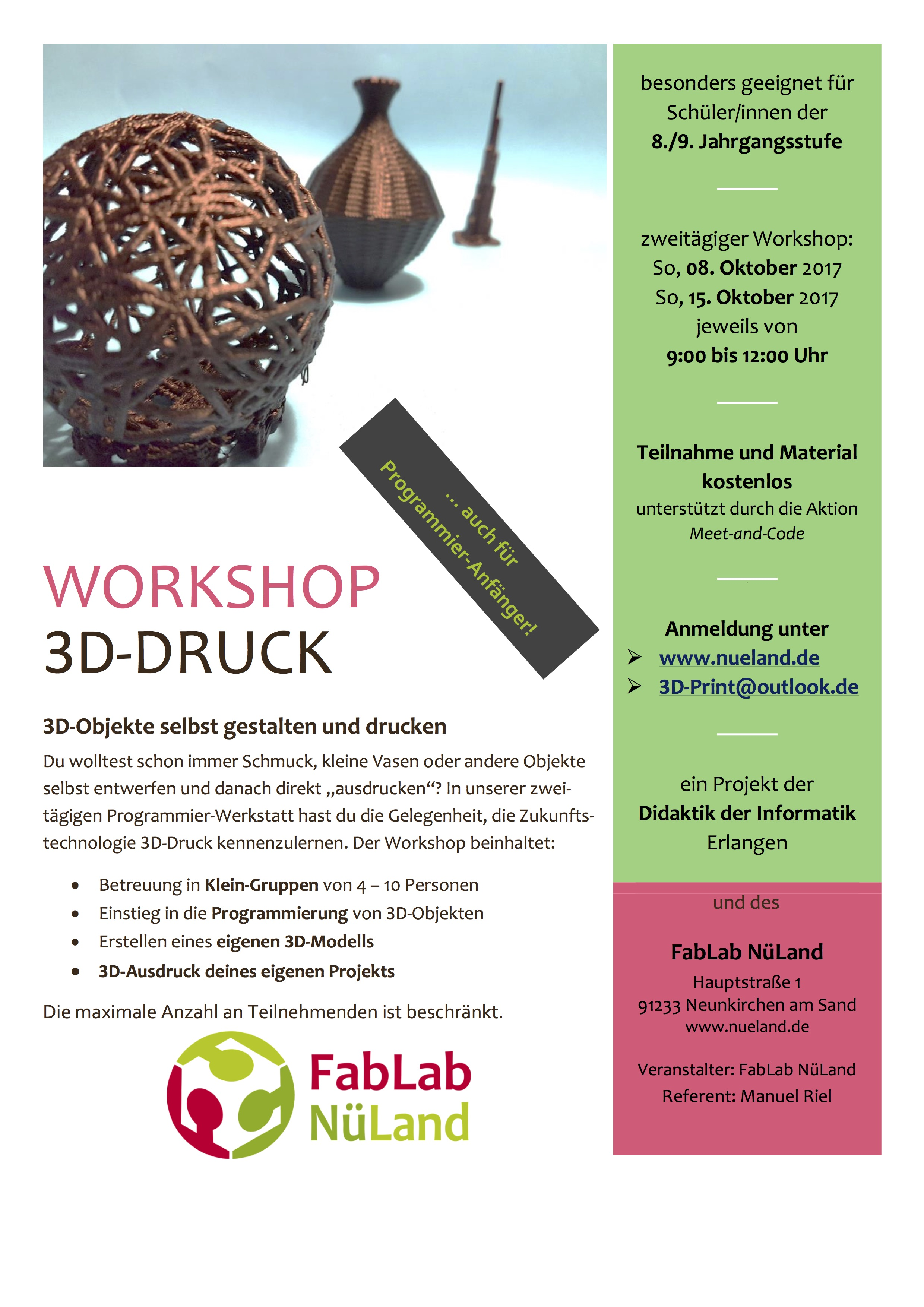 3D Druck Meet and Code Flyer 2